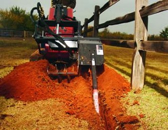 WIDE OFFSET TRENCHER ATTACHMENT