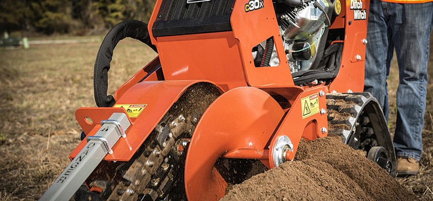 Walk-Behind Trenchers Improve Job-Site Productivity
